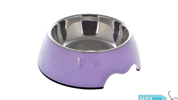 Nutrapet Melamine Round Paw Bowl – Purple