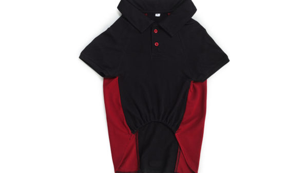 Barks & Wags Maroon & Black Polo Dog Shirt