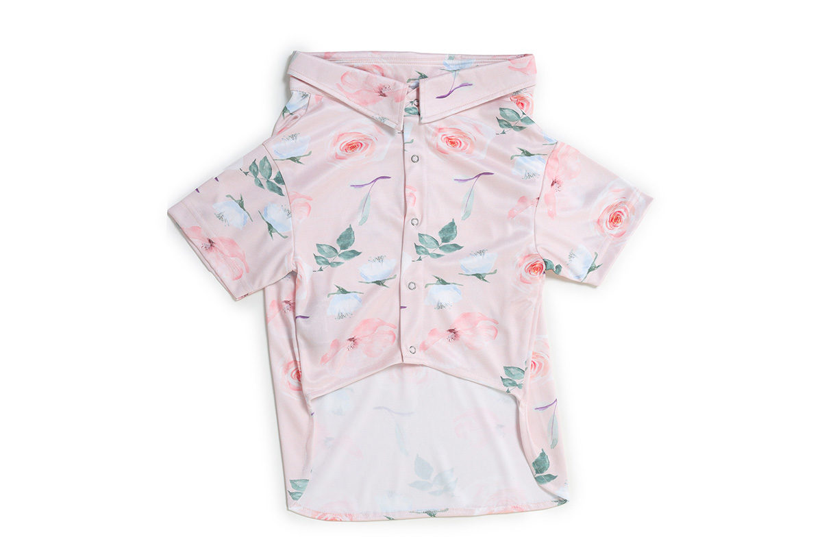 Barks & Wags Pink Floral Dog Shirt