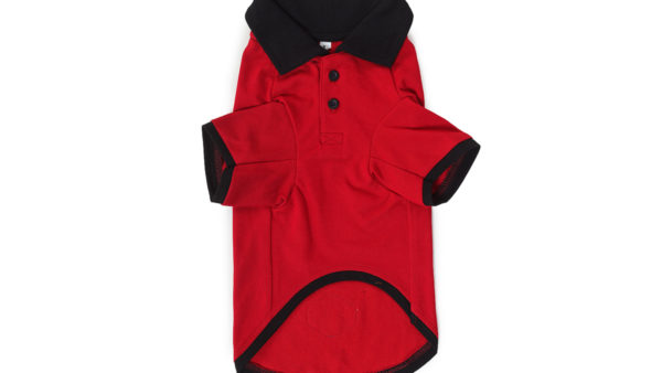 Barks & Wags Red & Black Polo Dog Shirt