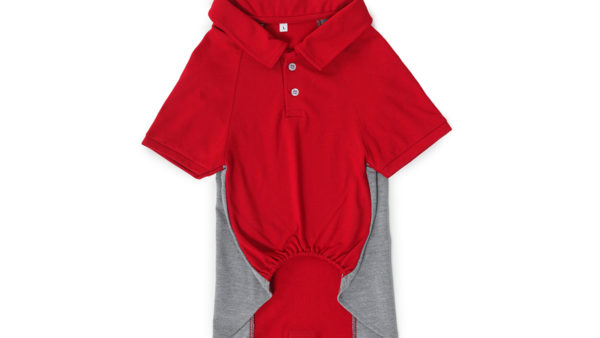 Barks & Wags Red & Grey Polo Dog Shirt