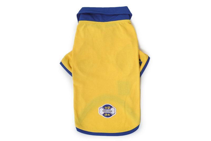 Barks & Wags Yellow & Royal Blue Polo Dog Shirt