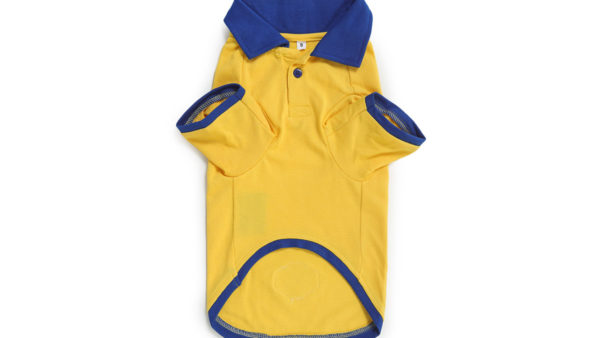 Barks & Wags Yellow & Royal Blue Polo Dog Shirt