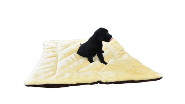 Barks & Wags Yellow and Brown Flip It Dog & Cat Flat Bed