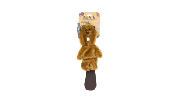 Beco Pets Brenda the Beaver Stuffing Free Dog Toy