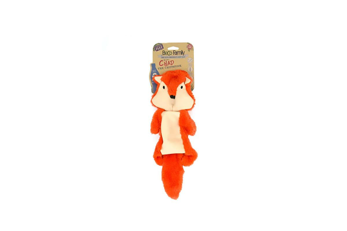 Beco Pets Chad the Chipmunk Stuffing Free Dog Toy