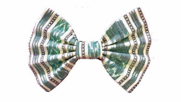 FTFK Sambalpuri Ikat Green Bow Tie For Dogs