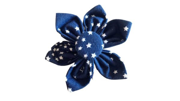 FTFK Starry Night Collar Flower Bow For Dogs