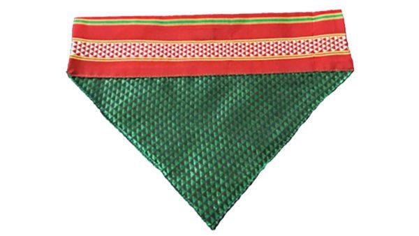 FTFK Traditional Maharashtrian Khun Dog Bandana - Green & Red