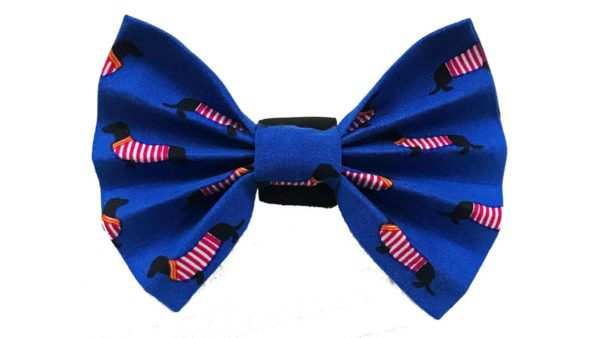 FTFK Woof Parade Bow Tie For Dogs - Blue