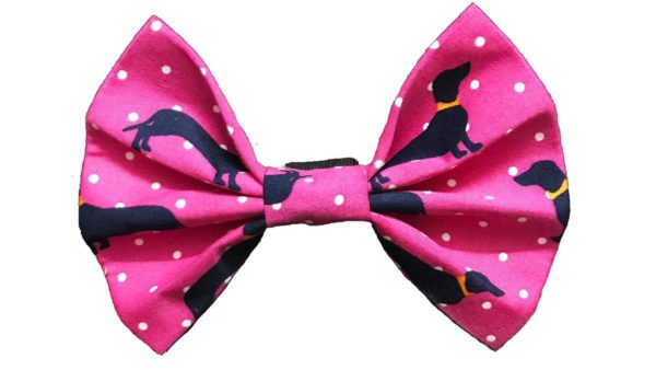 FTFK Woof Parade Bow Tie For Dogs - Pink