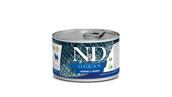 Farmina N&D Ocean Adult Wet Dog Food Herring & Shrimp (Small & Mini Breeds), 140 gms