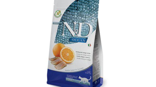 Farmina N&D Ocean Herring & Orange Adult Cat Dry Food