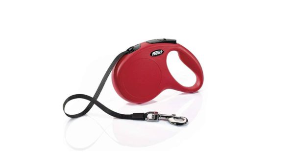 Flexi New Classic Retractable Tape Dog Leash - Red