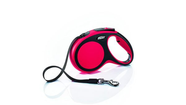 Flexi New Comfort Retractable Tape Dog Leash - Red