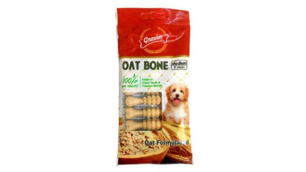 Gnawlers Oat Bone Dog Snack - Medium, 55 gms