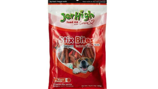 JerHigh Stix Bites Training Treats for Dogs, 100 gms