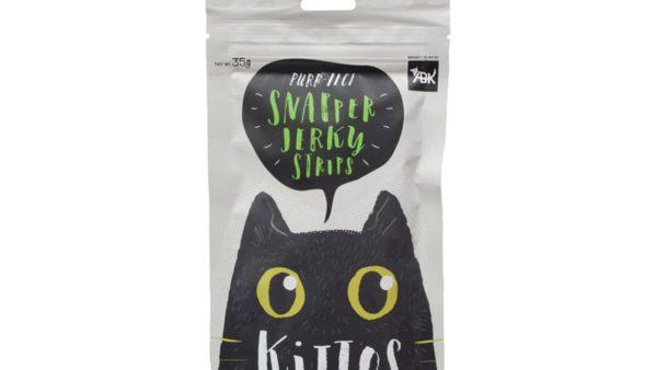 Kittos Snapper Jerky Strips Cat Treats (Pack of 2)