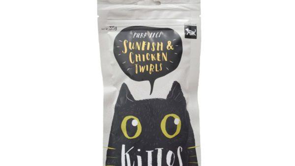 Kittos Sunfish & Chicken Twirls Cat Treats (Pack of 2)