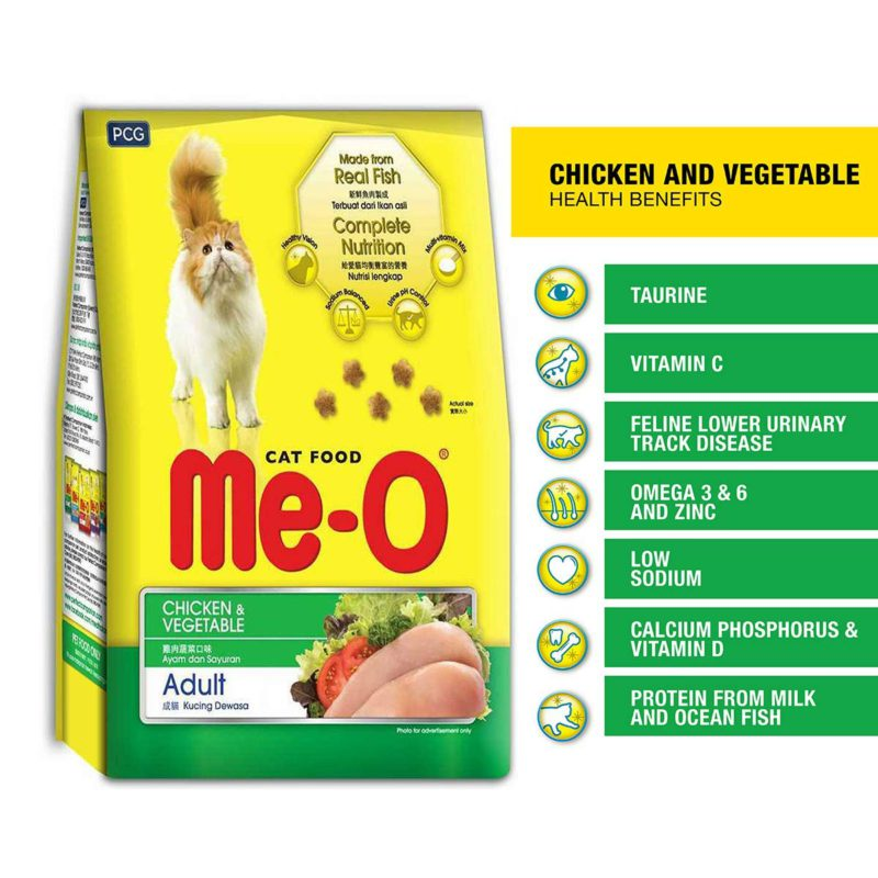 Me-O Chicken & Vegetables Adult Cat Dry Food