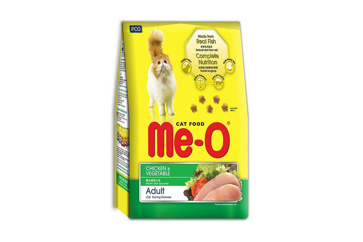 Me-O Chicken & Vegetables Adult Cat Dry Food 3