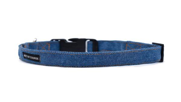 Mutt Ofcourse Personalised Dark Blue Denim Collar