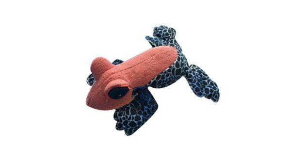 Nutrapet Fluffy Frog Jute Dog Toy