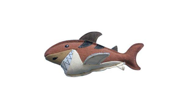 Nutrapet Happy Sharky Jute Dog Toy