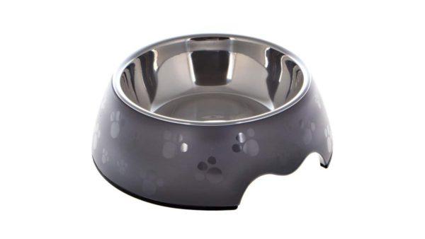 Nutrapet Melamine Round Paw Bowl - Grey