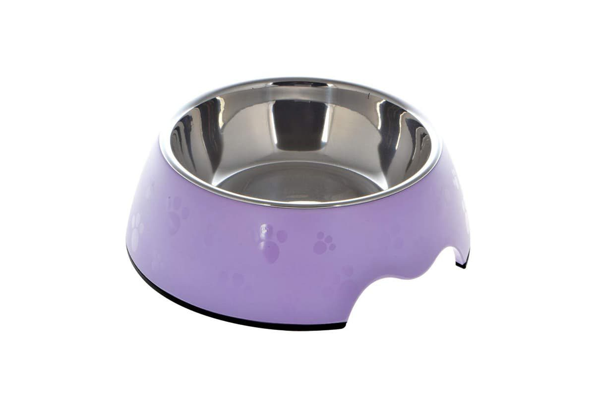 Nutrapet Melamine Round Paw Bowl - Purple