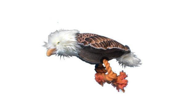 Nutrapet Plush Eagle Jute Dog Toy