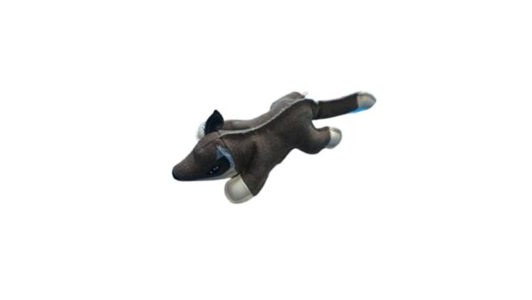 Nutrapet Plush Fox Jute Dog Toy