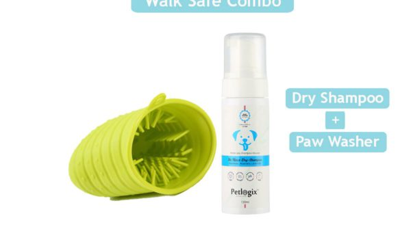 Petlogix Walk-Safe Dry Shampoo + Paw Cleaner Combo