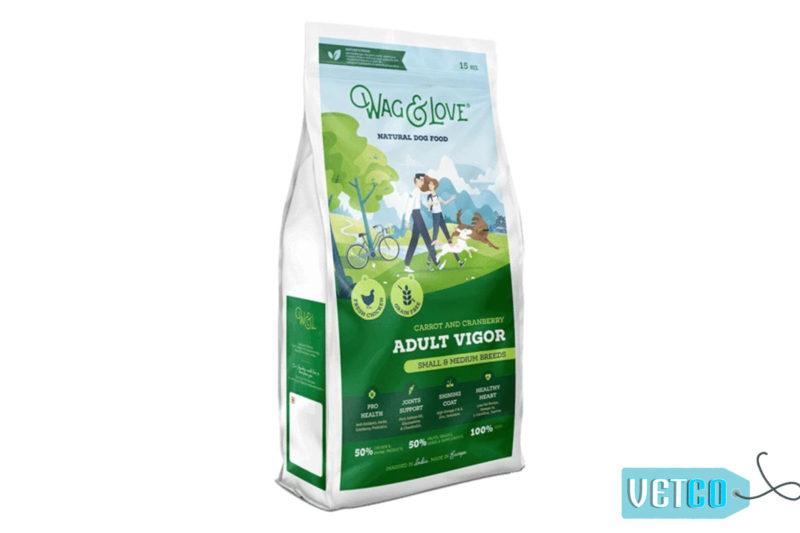 Wag & Love Adult Vigor Grain Free Dry Dog Food (Small & Medium Breeds)