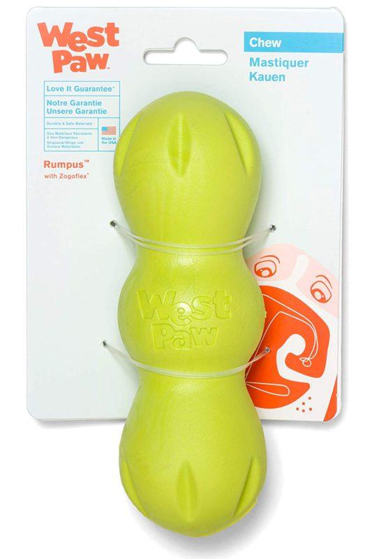 West Paw Zogoflex Rumpus Dog Chew Toy - Green