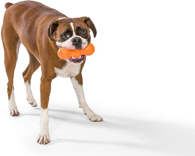 West Paw Zogoflex Rumpus Dog Chew Toy - Orange