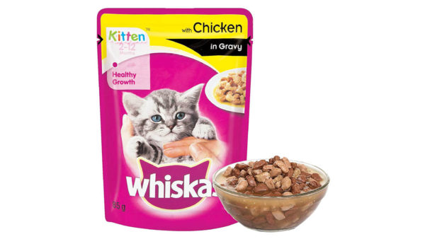 Whiskas Wet Meal Chicken in Gravy for Kittens, (6 x 85g)