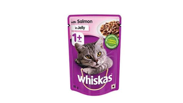 Whiskas Wet Meal Salmon in Jelly for Adult Cats, (12 x 85g) 1.02 kg